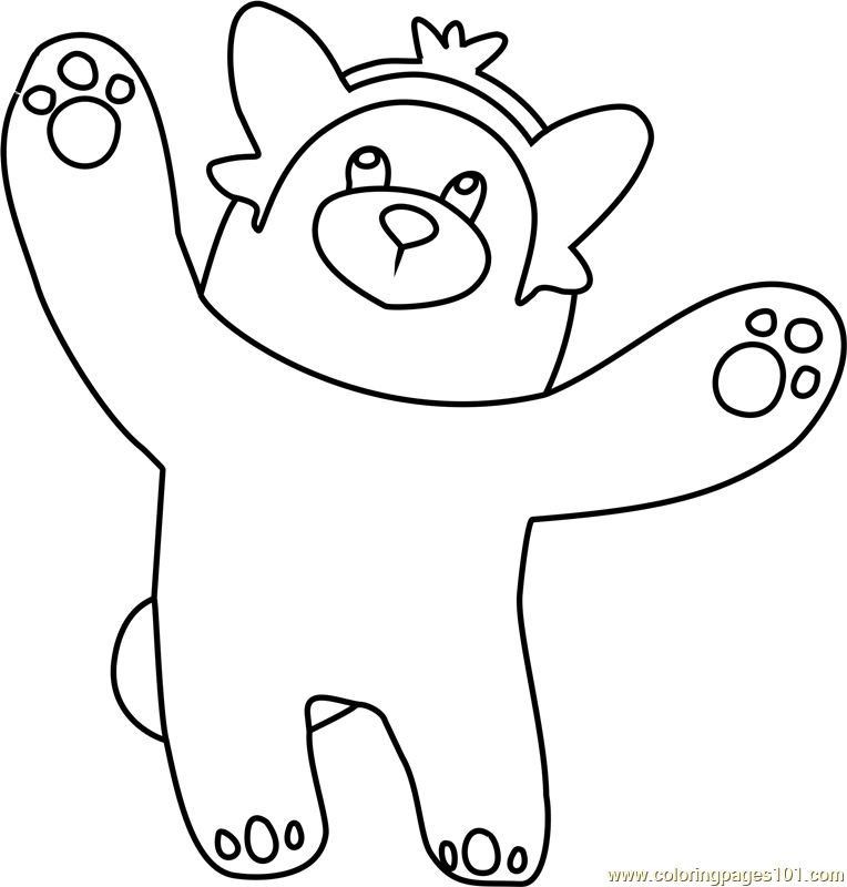 Bewear Pokemon Sun And Moon Coloring Page Pokemon Coloring Pages Moon Coloring Pages Pokemon Coloring