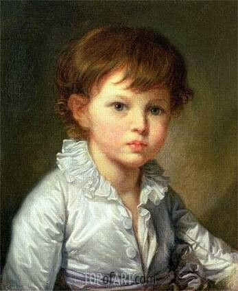"""Portrait of Count Stroganov as a Child""-- by Jean Baptiste Greuze (French, 1725–1805)"