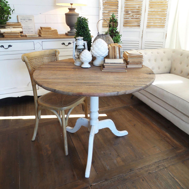 Acquista online il tavolo rotondo NEW VINTAGE WHITE di