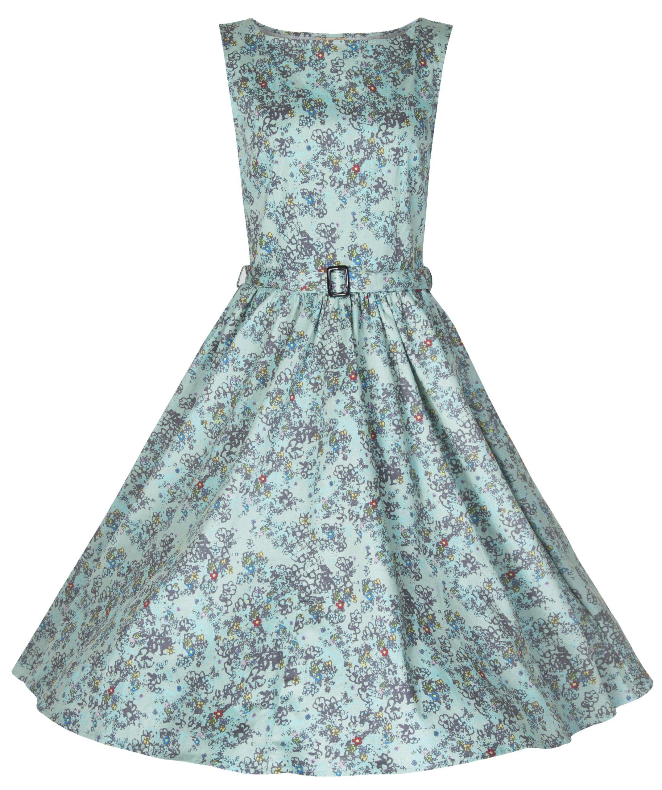 Lindy Bop Classy Floral Print \'Audrey\' Hepburn Style Vintage 1950\'s ...