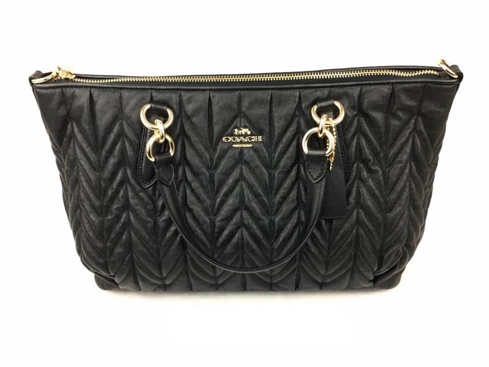 a770ce57932e NWT  550 Coach Quilt Leather Ally Satchel Bag F31460 Black Authentic LAST  ONE!