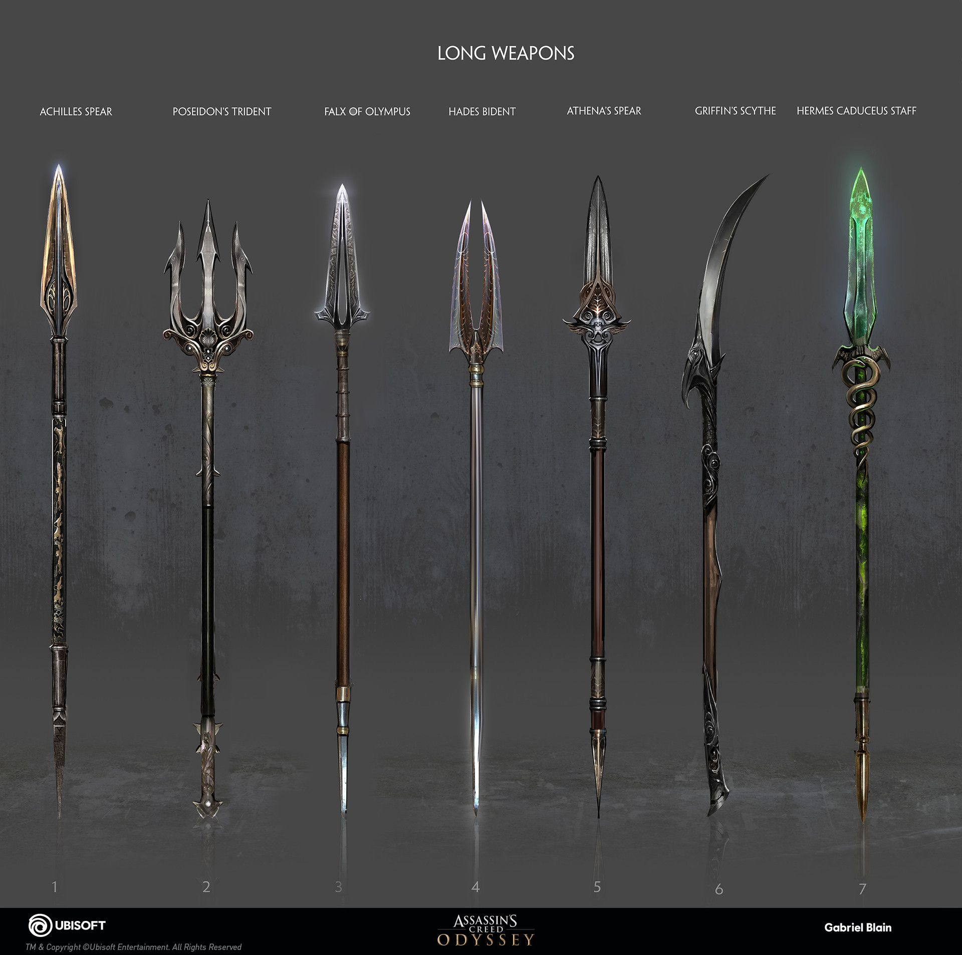 Artstation Assassin S Creed Odyssey Weapon Concept Gabriel Blain Assassins Creed Assassins Creed Art Assassins Creed Odyssey