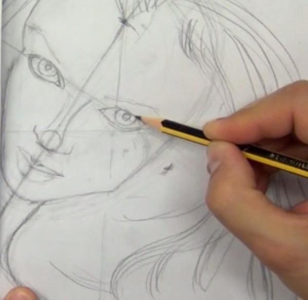 Cómo dibujar un rostro paso a paso (Perfilar - Paso 2)