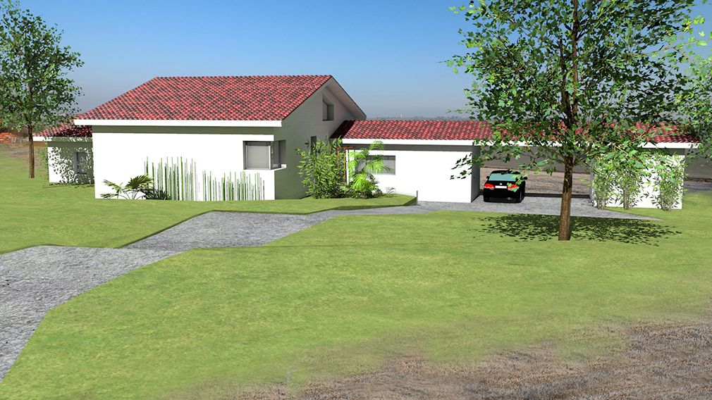 Plan Maison Architecte - Maison contemporaine avec demi niveaux pour