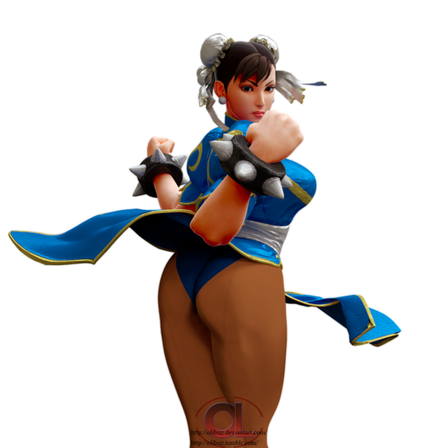 Chun li resin figure red bikini