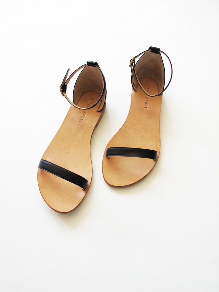 beaa780e726c1 simple sandals. Apiece Apart Il Sandolo Sandal - Black Cute Sandals