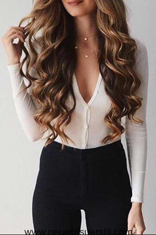13 Lange Wellige Haare Hair Style Pinterest Welliges Haar