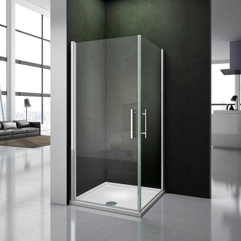 Aica box doccia angolare doppie porte apertura a rotazione