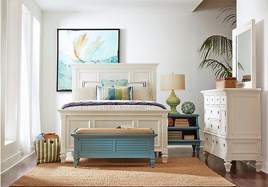 King Bedroom Sets Rooms To Go Belmar White Panel 7 Pc Kg