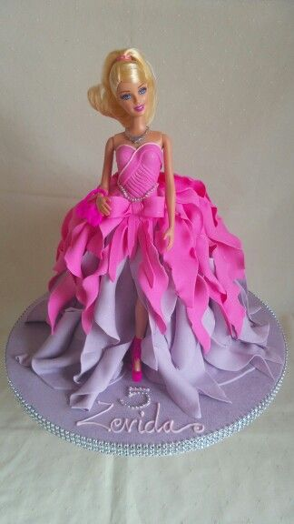 Barbie Doll Created By Mj From Satin Ice Fondant Design Inspired