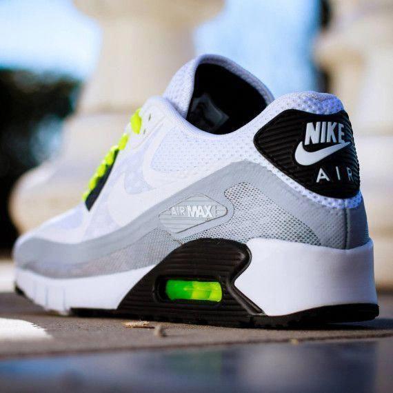 newest fdeda 654a9 Nike Air Max 90 Breathe - White White-Black-Metallic Silver