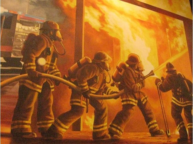 Local Art At Firehouse Subs (With Images)