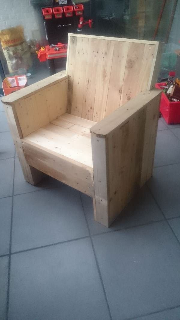 Reclaimed Pallet Armchair Benches Chairs