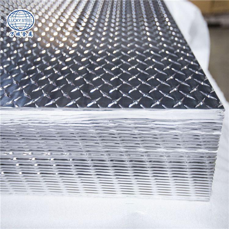 High Quality 1050 O 1060 O Aluminum Knurled Checkered Chequered Plate Diamond Plate Aluminum Checkered