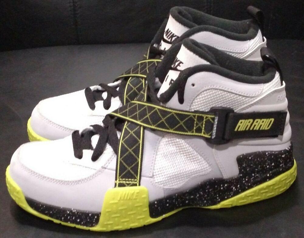 42c0d892 Nike Air Raid Basketball Kids Shoes SIZE 6.5Y Wolf Grey Venom Green ...