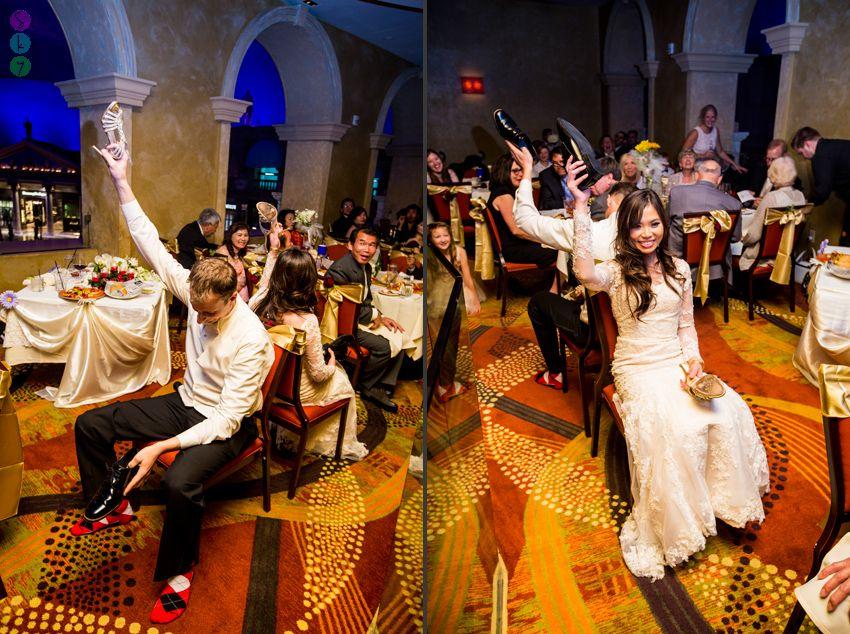 Caesars Palace Wedding Reception Vy + Tim Palace