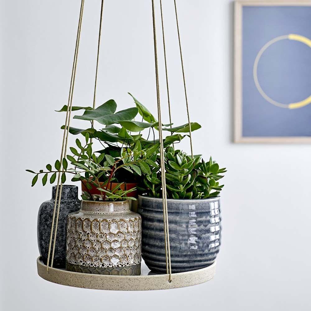 Bloomingville Pflanzenhalter Hangend In Weiss Gross Topfblumen Pflanzenhalter Hangepflanzen Zimmer