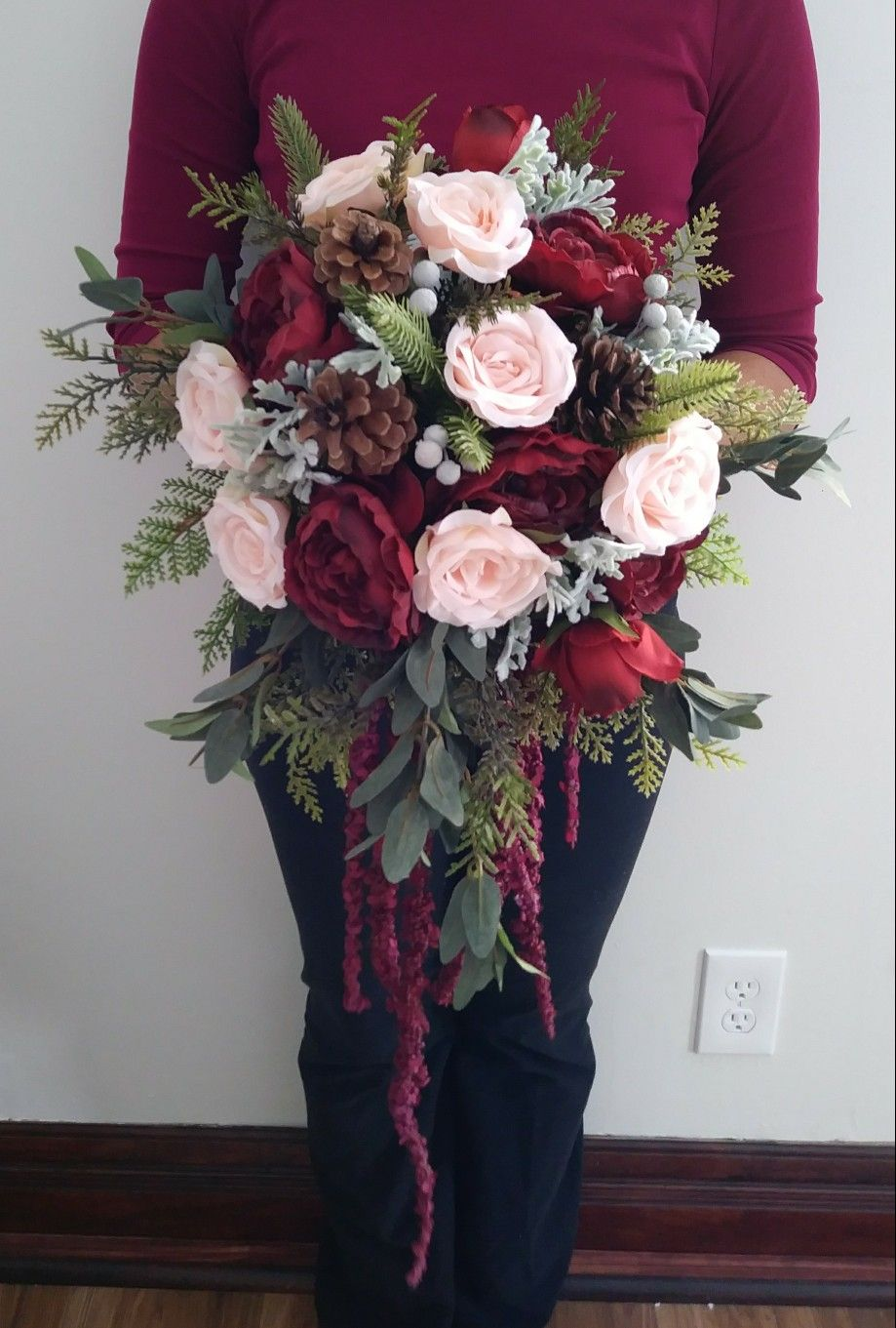 Silk winter bouquet by