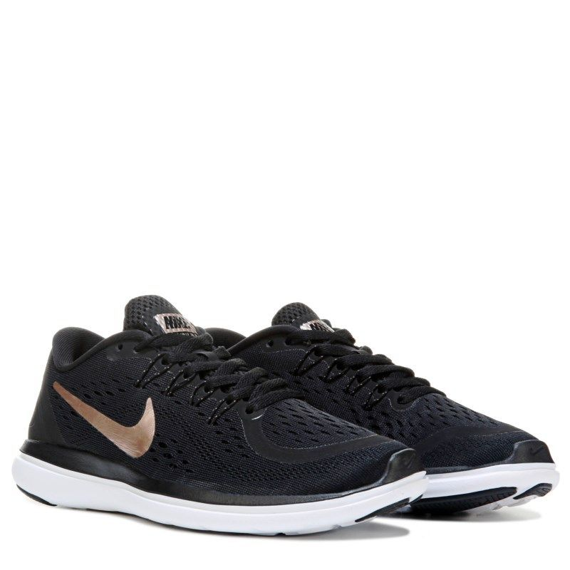 b634e3e21ab Nike Women s Flex 2017 RN Running Shoes (Black Gold)