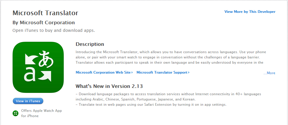 Microsoft Translator on iOS can now translate offline | Apps