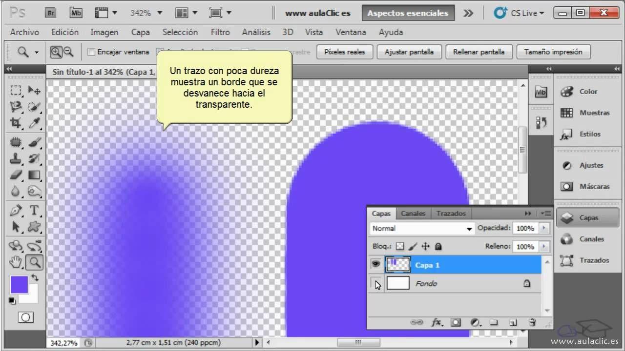 Curso De Photoshop Cs5 3 1 Dibujar Con Pincel Y Lápiz Curso De Photoshop Photoshop Pinceles