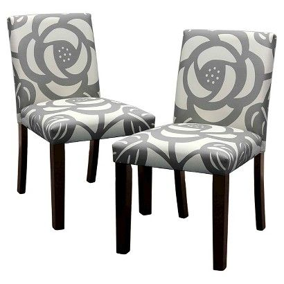 Seedling by Thomas Paul Uptown Dining Chair - Dec Rose Gray (Set of 2)