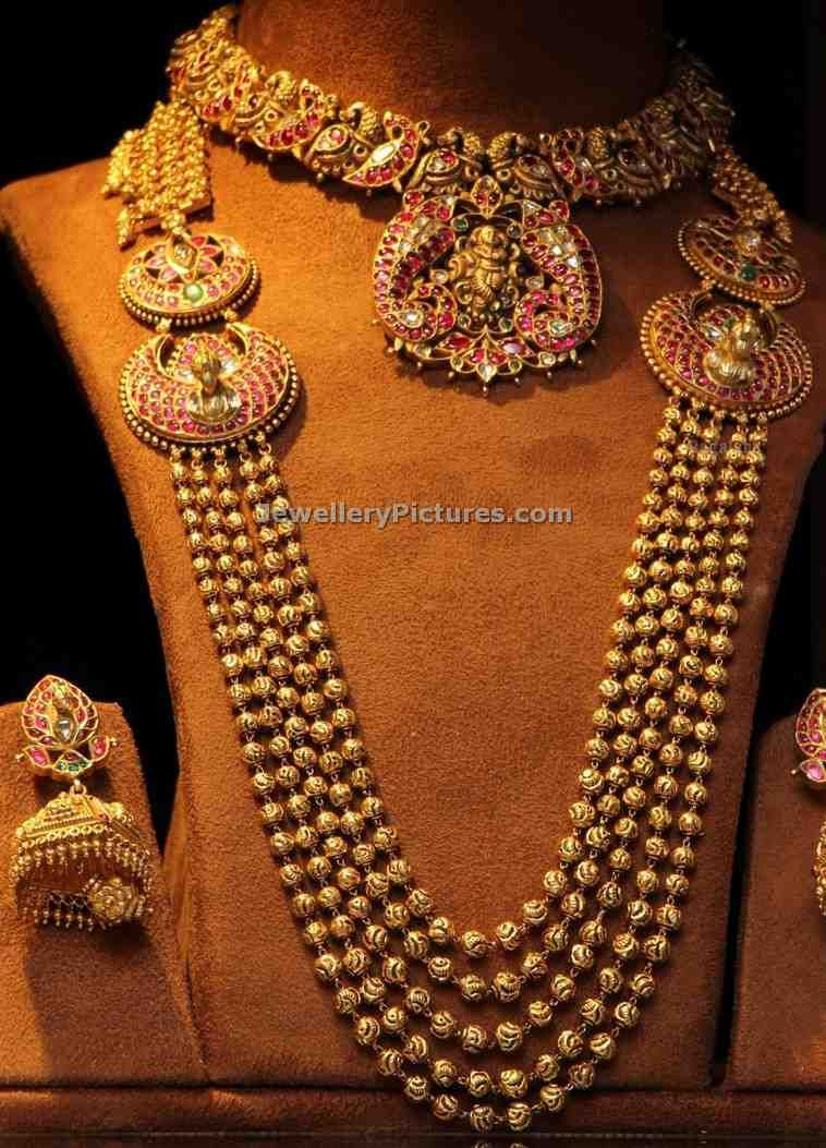 Gold · Antique Necklace And Antique Finish Necklaces Latest Designs
