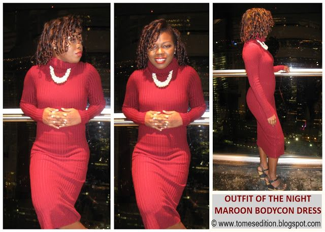 Tomes Edition: Style | Maroon Midriff BodyCon Dress…