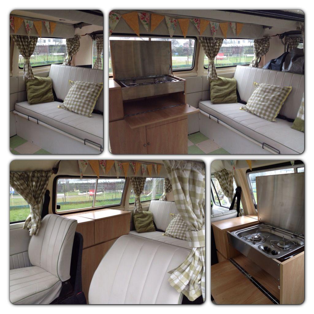 Kombi interiors on pinterest campers campervan interior for Vw kombi interior designs