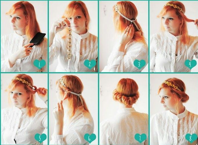 easy updos with headbands - Google Search | short hair updos ...