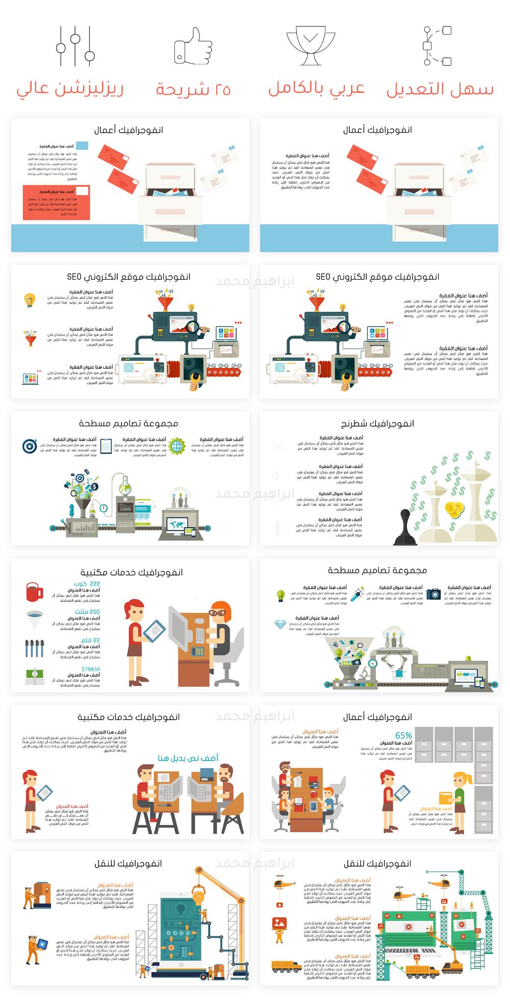 انفوجرافيك بوربوينت باللغة العربية مستقل Mind Map Design Business Powerpoint Templates Mind Map