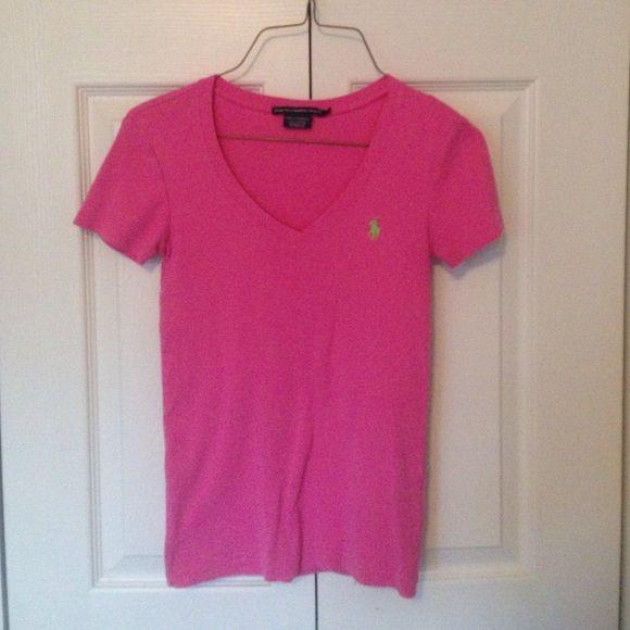Polo Ralph Lauren Shirt Bright pink RL Sport shirt with green pony. Ralph Lauren Tops Tees - Short Sleeve
