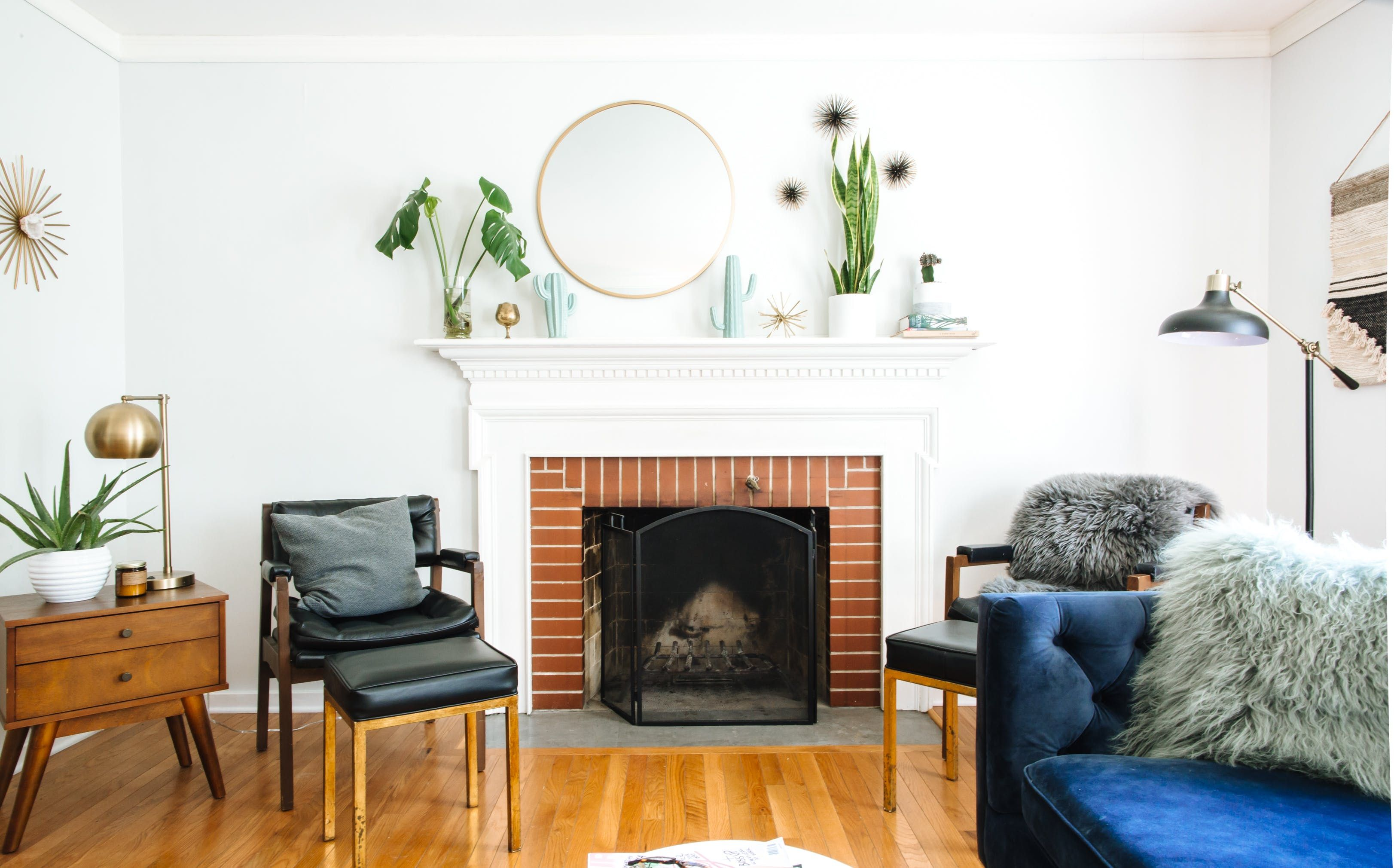 A Midwest Fashion Blogger Buys Her First Home | Floor lamp, Woods ...