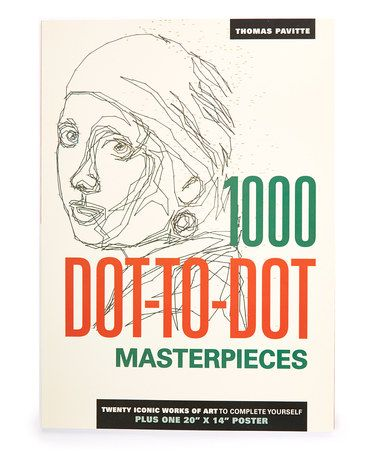 the 1000 dot to dot book masterpieces twenty iconic works of art to complete yourself