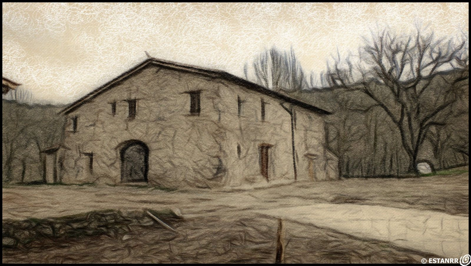 Made with Mediachance Dynamic Auto Painter software: ESTANRR- PAINT GARROTXA RIBA DEL FLUVIA -COLPEN10JFUJI5792-20170221