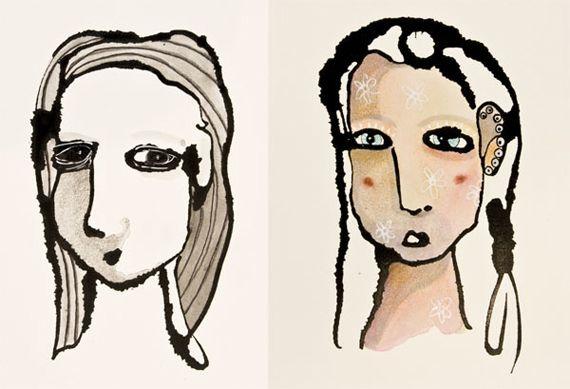ink dropper drawings