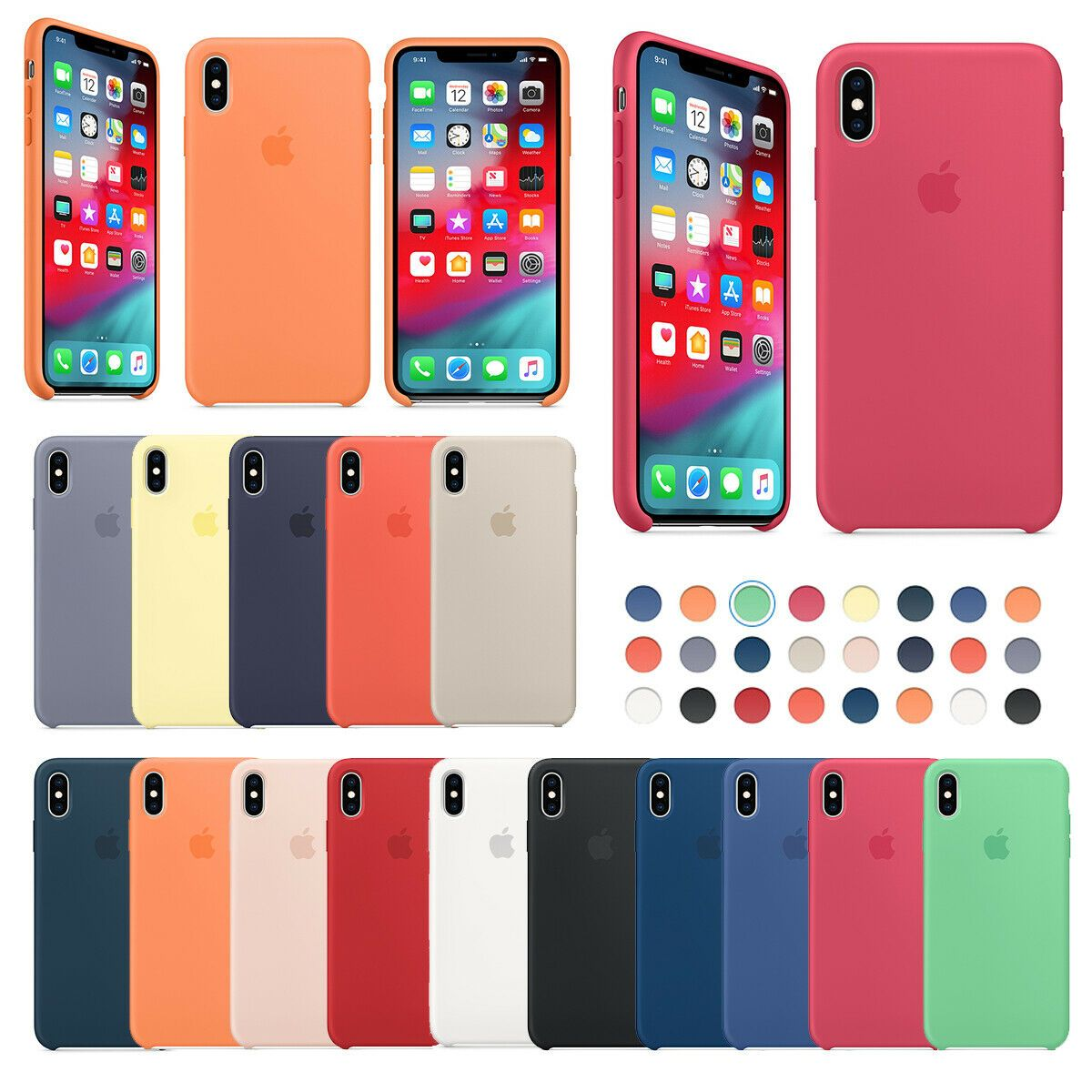 Iphone X case Iphone XS case Silicone Cover iphone 7plus iphone 8