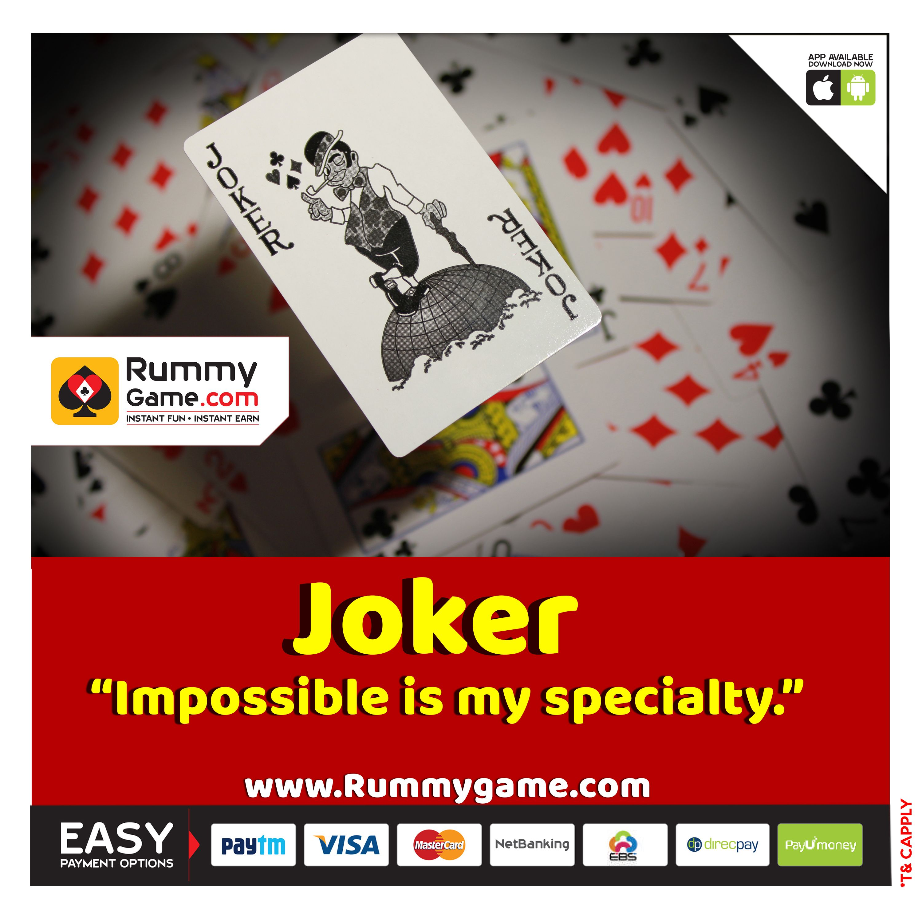 Impossible Is My Specialty Play Online Rummy At www