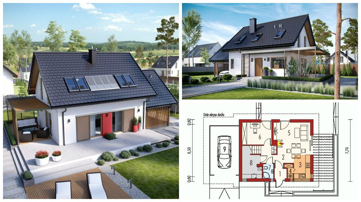 Render that shows the most beautiful small house design is for Very simple small house plans