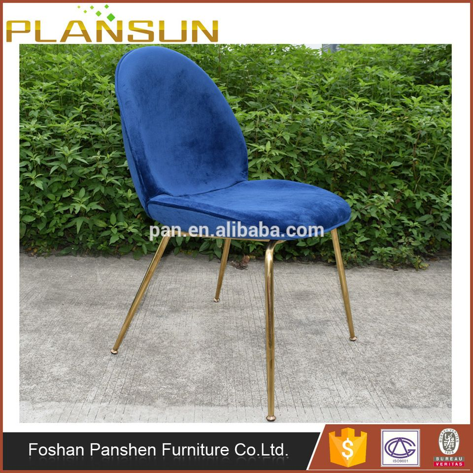 Replica designer furniture GUBI beetle chair golden legs by ...