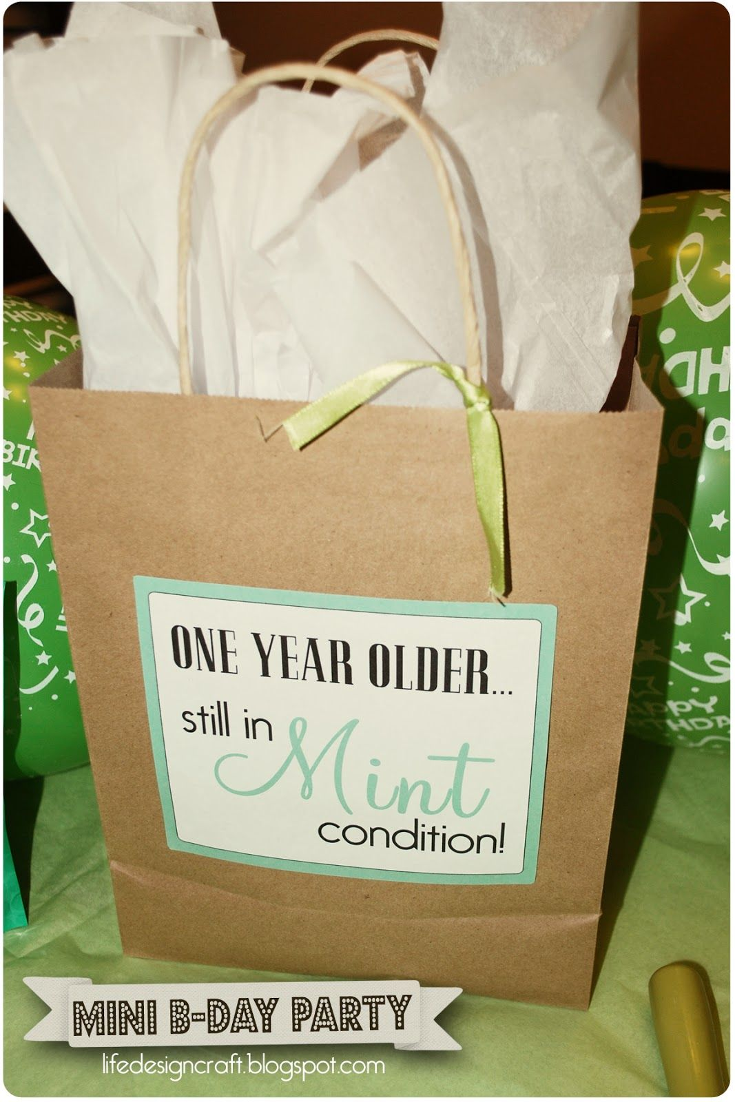 Mint Condition a mini birthday party theme check it out