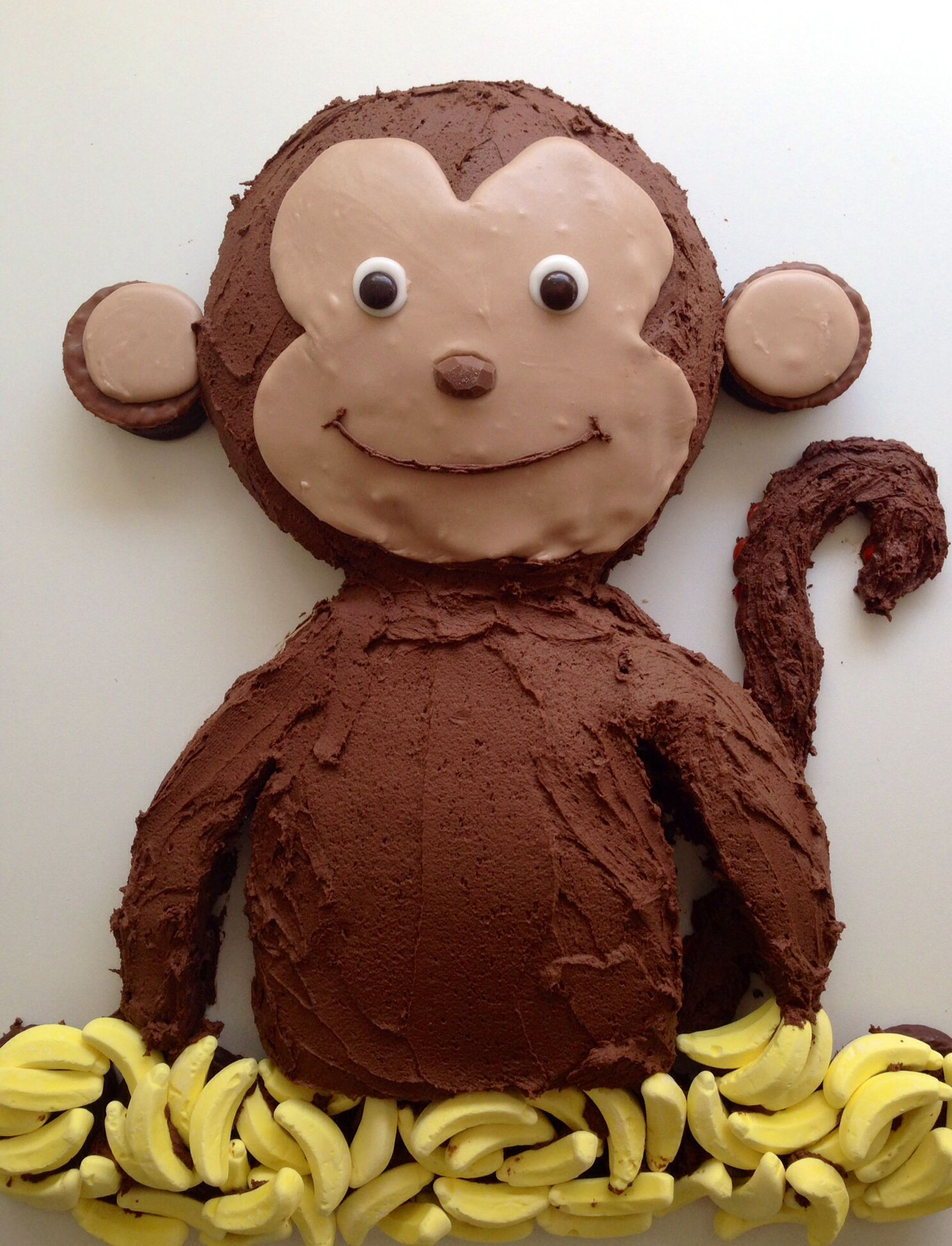 Astounding Monkey Birthday Cake With Images Monkey Birthday Cakes Funny Birthday Cards Online Alyptdamsfinfo