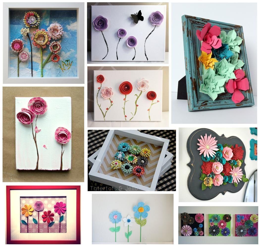 10 Beautiful 3d Paper Flower Wall Art Ideas For Home Decor 9 Diy