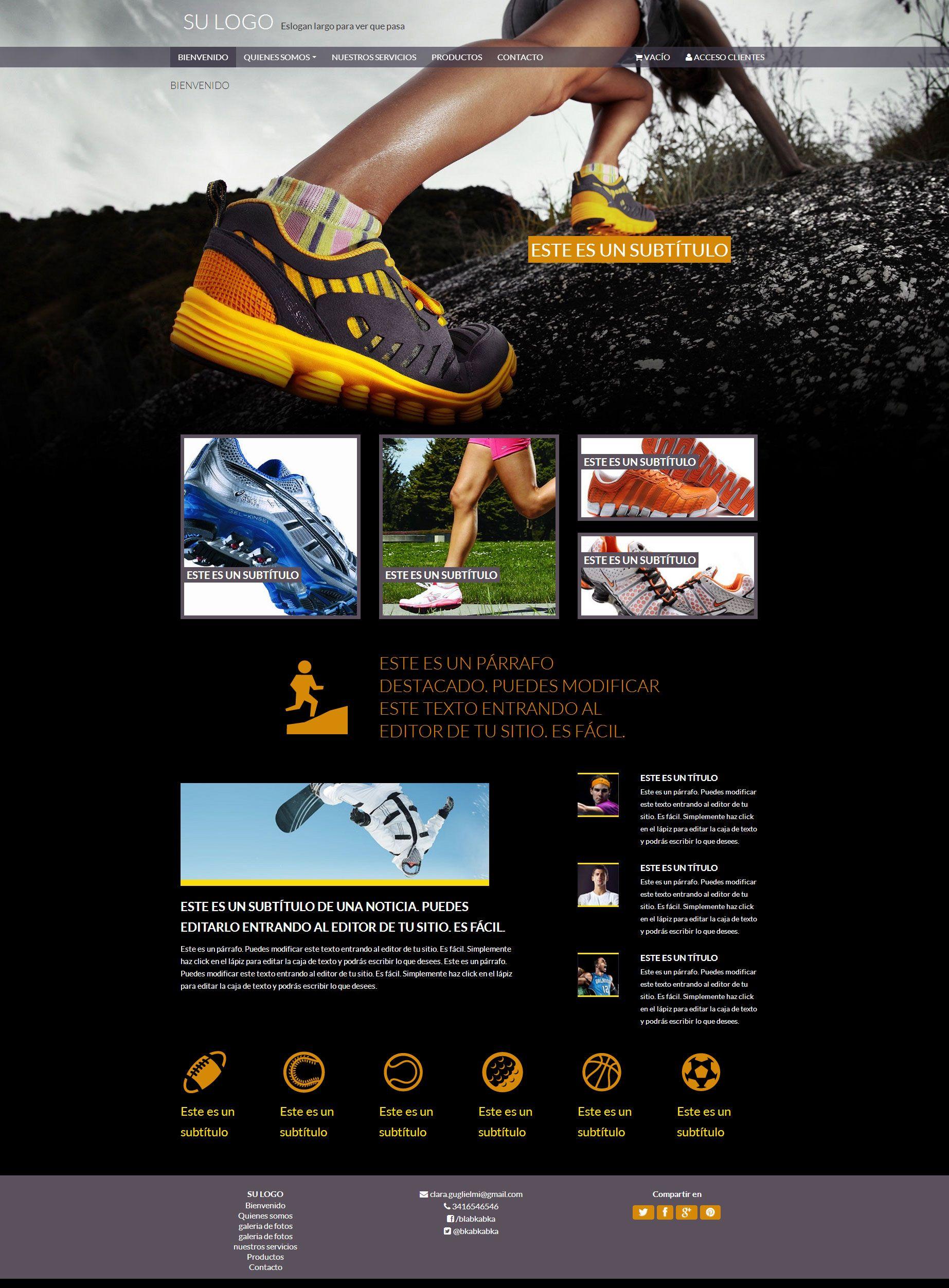 Plantilla Deportes | Nubix : Crea tu pagina web en minutos ...