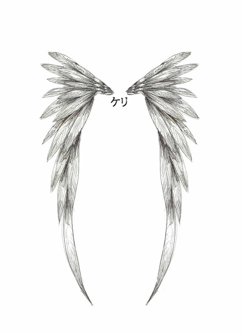 Angel Wings Tattoo Small Simple: Angel Wing Tattoo Design By