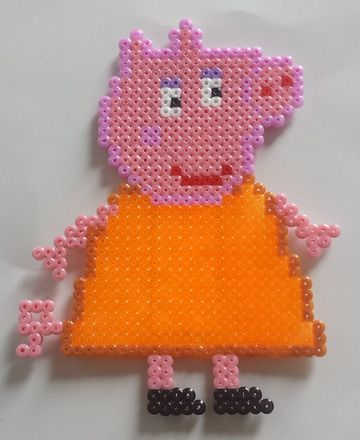 Magnet collection peppa pig maman cochon en perle hama perler beads hama beads and beads - Fusee peppa pig ...