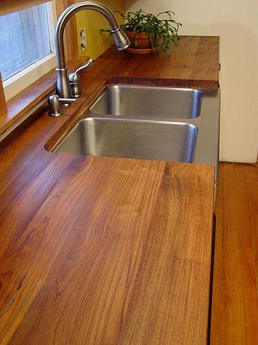 Teak Countertop Kitchen Living Outdoor Kitchen Kitchen