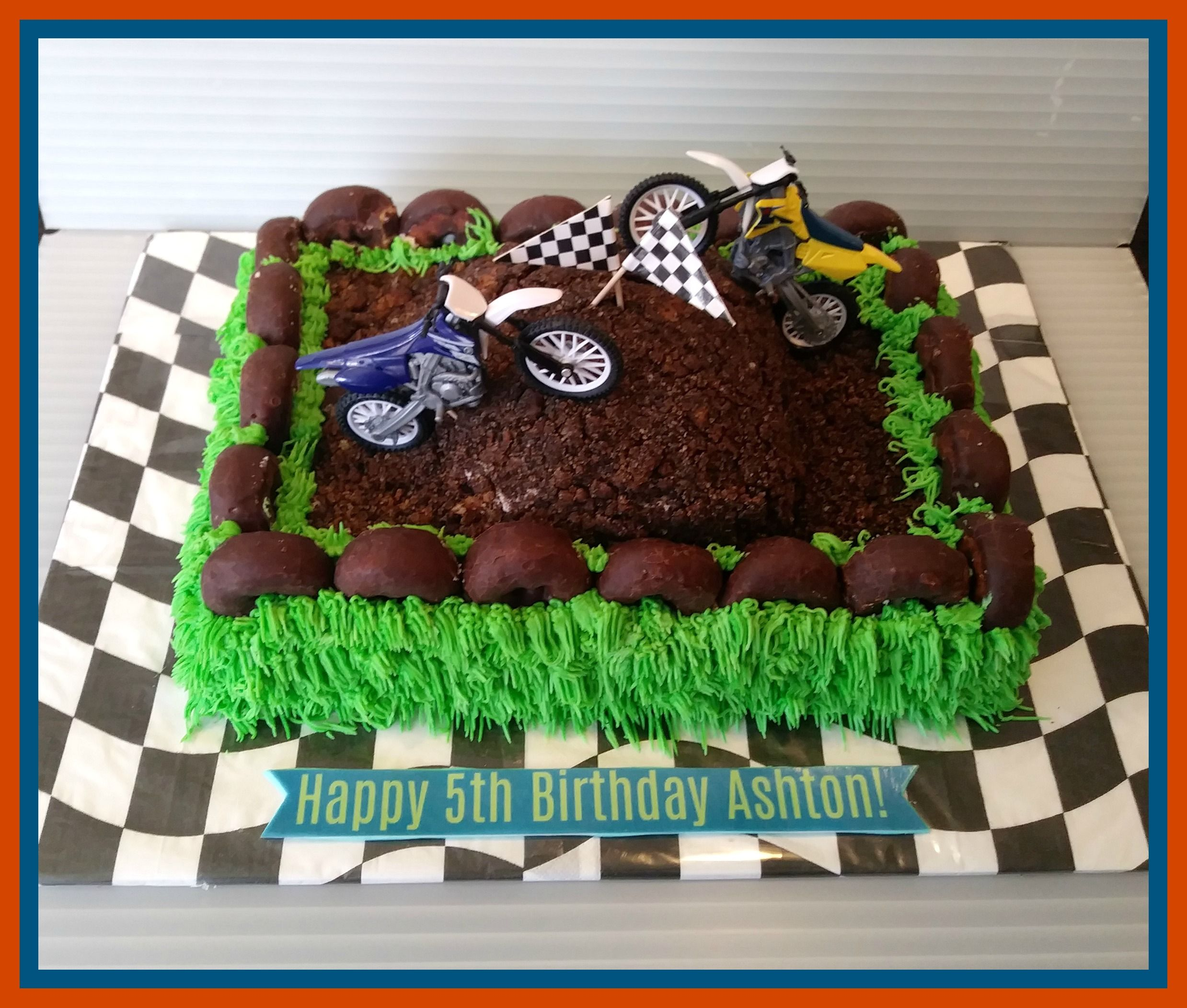 dirt bike themed cake Boys will be boys Pinterest Dirt biking