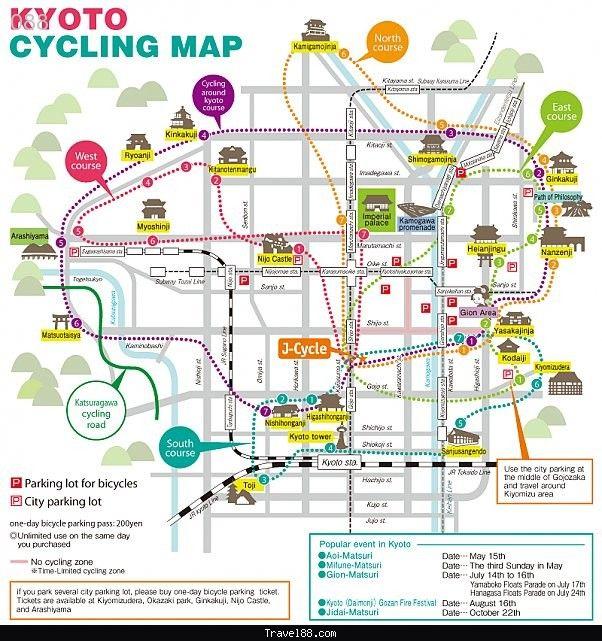 Kyoto Cycling Map Japan Trip Pinterest Kyoto Cycling and Maps