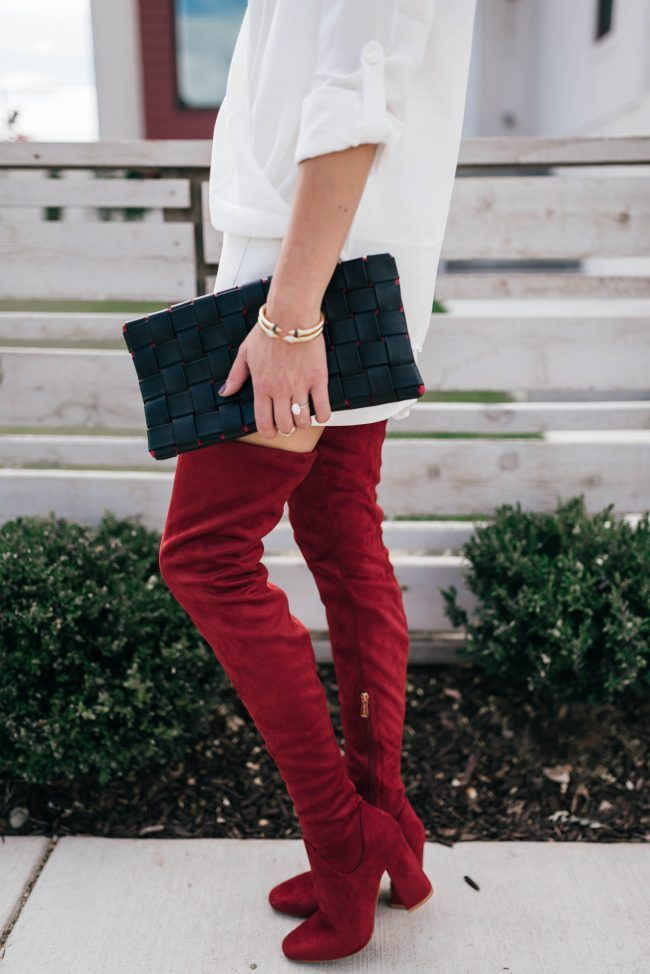 red thigh high boots • The Fashion Fuse